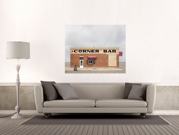 Corner Bar, Lingle - Ed Freeman Fine Art
