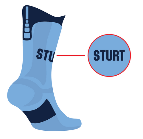 Sturt Sabres Socks - Performance Blue