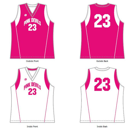 Pink Devils Domestic Reversible Singlet