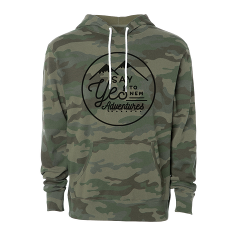 Adventure Seeker Unisex Camo Hoodie, Black - MCE Apparel