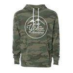 Adventure Seeker Unisex Camo Hoodie, White - MCE Apparel