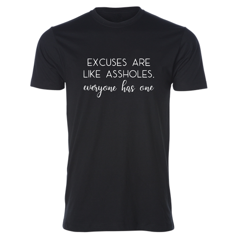 Excuses Tee, Black - Karter Collection x MCE Apparel