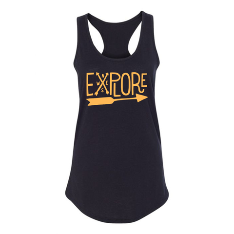 Explore NW Tank, Black/Peach - MCE Apparel