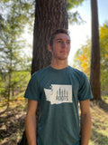 WA Roots Tee, Heather Dark Grey - MCE Apparel