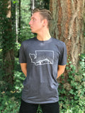 WA Sasquatch Tee, Heather Dark Grey - MCE Apparel