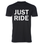 Just Ride Unisex Tee, Black/White - MCE Apparel
