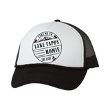 Lake Tapps Homies Hats, White/Black - MCE Apparel