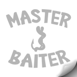 Master Baiter Decal, Grey - MCE Apparel