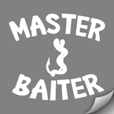 Master Baiter Decal, White - MCE Apparel