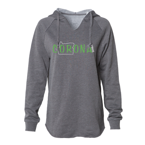The cORona Women's Hoodie, Grey - MCE Apparel
