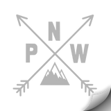 PNW Compass Decal, Grey - MCE Apparel