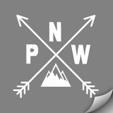 PNW Compass Decal, White - MCE Apparel