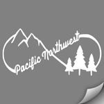 PNW Infinity Decal, White - MCE Apparel