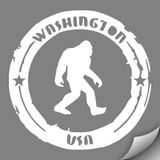 Sasquatch Search Team Decal, White - MCE Apparel