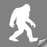 Sasquatch Decal, White - MCE Apparel