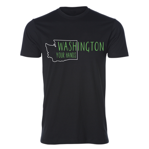 WAsh Your Hands Tee, Black - MCE Apparel