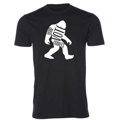 Sasquatch Voter Black Tee