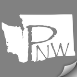 Washington PNW Decal, White - MCE Apparel