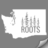 Washington Roots Decal, White - MCE Apparel