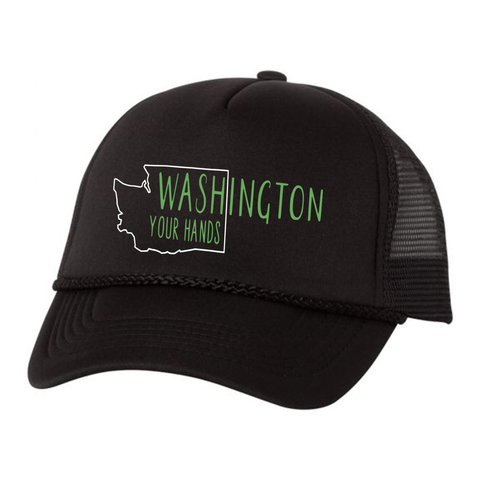 WAsh Your Hands Trucker Hat, Black - MCE Apparel