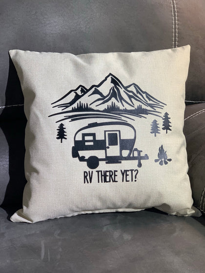 RV There Yet Throw Pillow