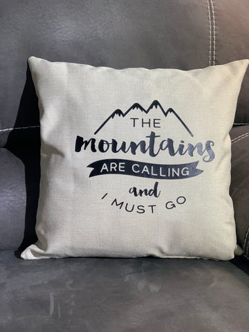 Cascades Throw Pillow, Khaki - MCE Apparel