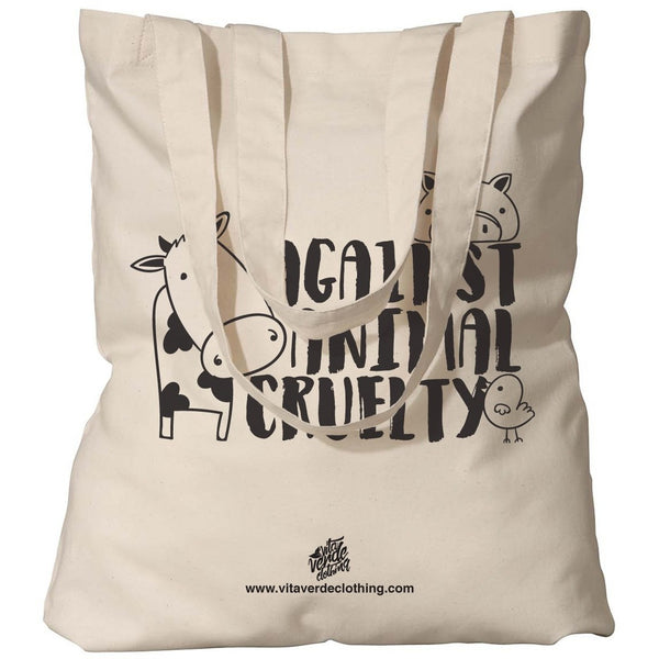 """Against Animal Cruelty"" Tote Bag (Natural)"