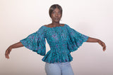 Fluffy Sleeves Elastic top
