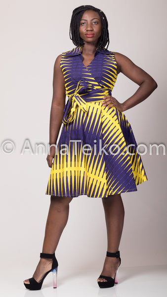 Hand Made Wrap Dress - AnnaTeiko Designs