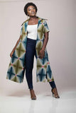 Athentic Print Duster with pockets