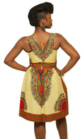 Dashiki sundress with pockets - AnnaTeiko Designs