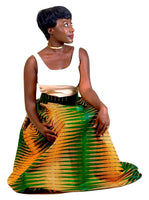 Aba Maxi Skirt (Green) - AnnaTeiko Designs