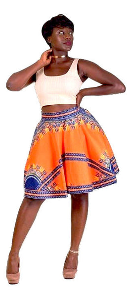 Dashiki mini Flare skirt - AnnaTeiko Designs