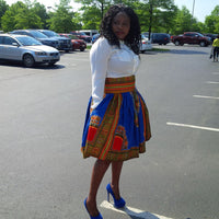Dashiki Midi Skirt - AnnaTeiko Designs