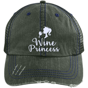 Wine Princess - Distressed Trucker Cap