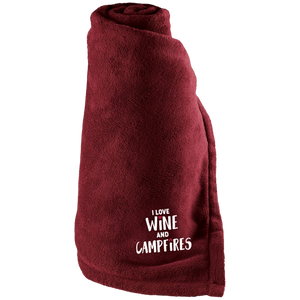 I Love Wine and Campfires Blanket