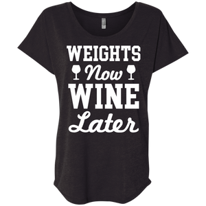 Weights Now Wine Later
