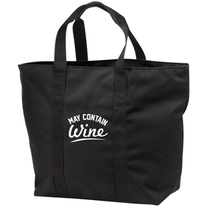 May Contain Wine - All Purpose Tote Bag