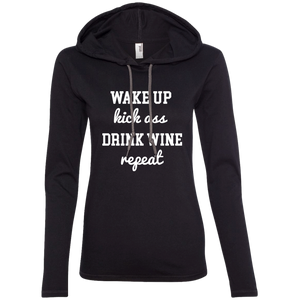 Wake Up Kick Ass Drink Wine Repeat