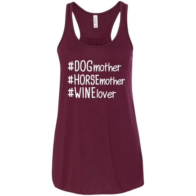 Dog Mother Horse Mother Wine Lover Hashtag