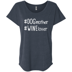 Dog Mother Wine Lover Hashtag