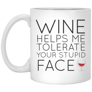 Wine Helps Me Tolerate - Mug
