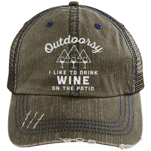 Outdoorsy - Distressed Trucker Cap (Mesh Back)