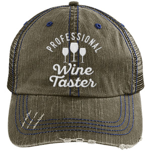 Professional Wine Taster - Distressed Trucker Cap