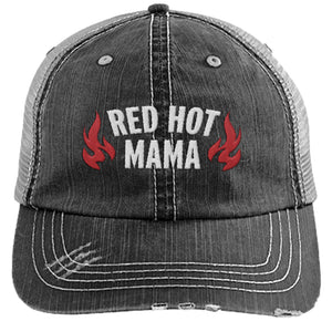 Red Hot Mama - Distressed Trucker Hat