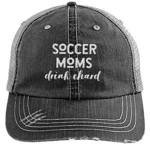 SOCCER MOMS DRINK CHARD - DISTRESSED TRUCKER CAP (MESH BACK)