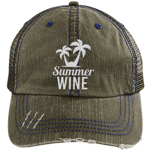 Summer Wine - Distressed Trucker Cap (Mesh Back)