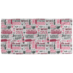 Wine Quotes - Beach Towel