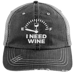Wine Gauge - Distressed Trucker Cap