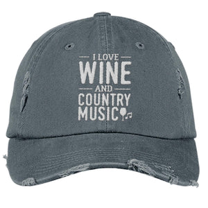 Wine and Country Music - District Distressed Hat